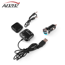 A2DP Magnetic Car Kit Wireless Bluetooth FM Transmitter MP3 Player 3.5mm Audio AUX TF card Slots With Dual USB Car Charger(China)