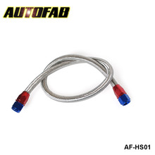 AUTOFAB - Universal Oil Feed Kit 1meter Stainless Steel Braided hose -AN10 fittings AF-HS01