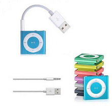 3.5mm Jack/Plug to USB 2.0 charger Data Cable M Audio Headphone Adapter Cord for Apple ipod 3rd 4th 5th 6th Gen MP3/4