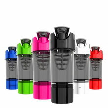 High Quality Protein Shaker Water Bottle Fitness Sport Yoga Plastic Shakering Bottles Bodybuilding Multi-functional Design Drink(China)