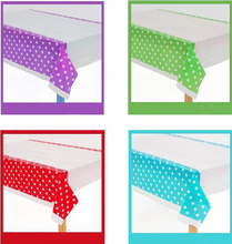 108*180cm = 43*70inch plastic tablecloth color dots sweet for Birthday Wedding Party Decoration baby shower gift craft DIY favor