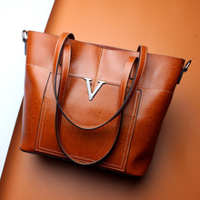 Designer women leather handbags high quality 2017 new fahsion shoulder bags real cow genuine leather woman casual tote bag(China)