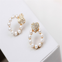 2016 Popular Hot Selling New Women Earrings White pearl beauty dress Accessories #e104(China)