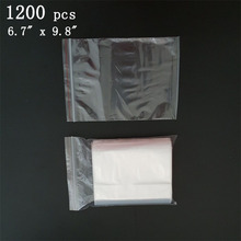 "Via DHL EMS SPSR 1,200 Pcs 6.7""x9.8"" Reclosable Bags 2MIL Poly Clear Baggies 17cmx25cm Zip lock Bag"