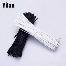 1000pcs 20CM Encapsulated Norse Wire plastic coated Iron Black cable tie Galvanized Norse Bundled cable line Ties