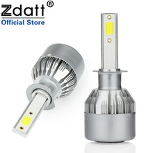 Zdatt 2Pcs Super Bright H1 Led Bulb 80W 8000Lm Headlights Car Led Light 12V 24V With Fans Automobiles(China)