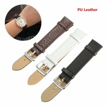 New Durable Fashion Soft PU Leather Watchband Strap Steel Buckle Charm Colorful Watch Bands 18/20/22mm White Black For Men Women