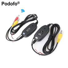 Podofo 2.4G Wireless Transmitter & Receiver for Car Reverse Rear View Backup Camera and Monitor Parking Assistance Vehicle CAM(Hong Kong)
