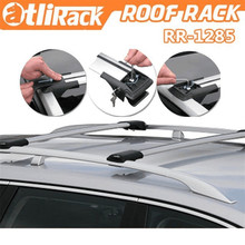 Car Roof Rack Cross Bar Top Roof Box Luggage Boat Bike Carrier Anti-theft Lock Adjustable For 110~120cm