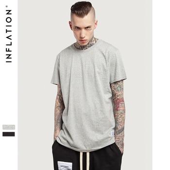 INFLATION 2017 Nouveau Style D'été Hippie Polka Dot Impression Hommes Coton Hippie Simple Surdimensionné Hip Hop T-shirts Top