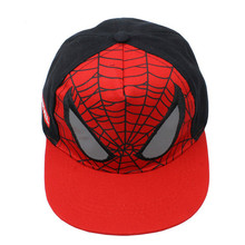 1Pcs Red Soft Children Cartoon Spiderman Baby Baseball Caps Snapback Adjustable Children's Sports Hats Fit for 48-53cm Kids Cap(China)