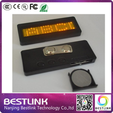 led scrolling name badge business card tag display sign 7*21 dots led name tag mini led sign muti-color muti-language