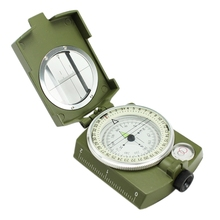 New Professional Military Camping Hiking Multifunction Optical Sighting Army Metal Compass Pocket Prismatic Luminous Compass(China)