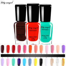 Lily angel 1PCS 6ML 48 Colors Choose Nail Polish Quick Dry Peel Off Liquid Nail Art Polish Easy Clean Nail Enamel