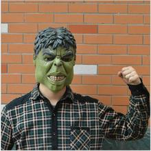 Green Hulk Mask Men's Silicone Face Mask Movie Cosplay Props Fancy Dress for Halloween Dance party