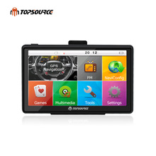 TOPSOURCE 7 inch HD Car GPS Navigation WinCE 6.0 FM 8GB/256MB Vehicle Truck GPS Sat Nav Free Map Update Russia/USA/Spain/France(China)