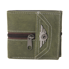 New Fashion Casual Men's Boy Punk Vintage Faux Leather Zipper Wallet Useful SpecialTrifold Card Money Holder Mini Purse Wallet(China)