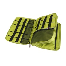New Universal Double Layer Travel Gear  Storage Organizer / Electronics Accessories Bag / Battery Charger Case