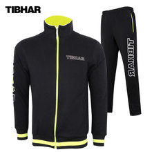 TIBHAR New Winter Jacket Training Suit with Trousers Table Tennis Jerseys Ping Pong Cloth Sportswear Sweater(Hong Kong,China)