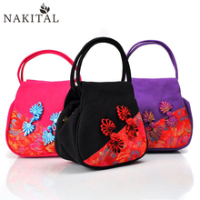 China Ethnic Embroidery Bag Vintage Embroidered Canvas Tote Bags For Women Branded Handbags New Casual Totes Bolsa Feminina 2017