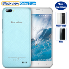 New Blackview A7 Dual Rear Cameras Smartphone 5.0 inch HD MTK6580A Quad Core Android 7.0 1GB RAM 8GB ROM 5MP Cam 2800mAh Battery(China)