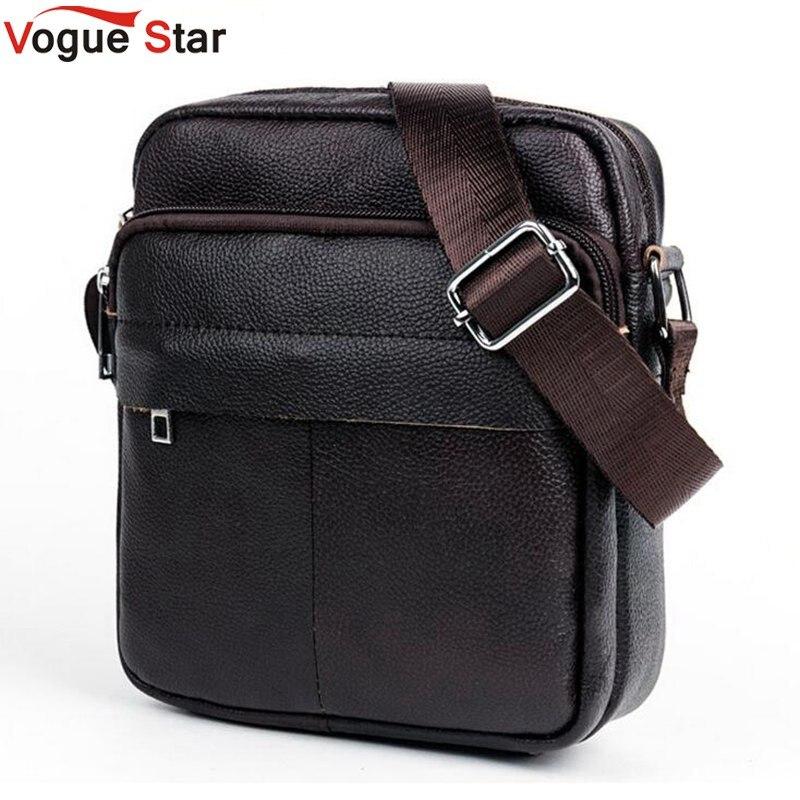 Vogue Star Genuine Leather Men Bags Fashion Male Messenger Bags Mens Small Briefcase Man Crossbody Shoulder Handbag LA449<br><br>Aliexpress