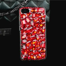China Red Rhinestone Case for Oneplus 5 3T 3 Bling Diamond Lips Colorful Celular Funda PC Hard Cover for One Plus 5 3T 3 Coque