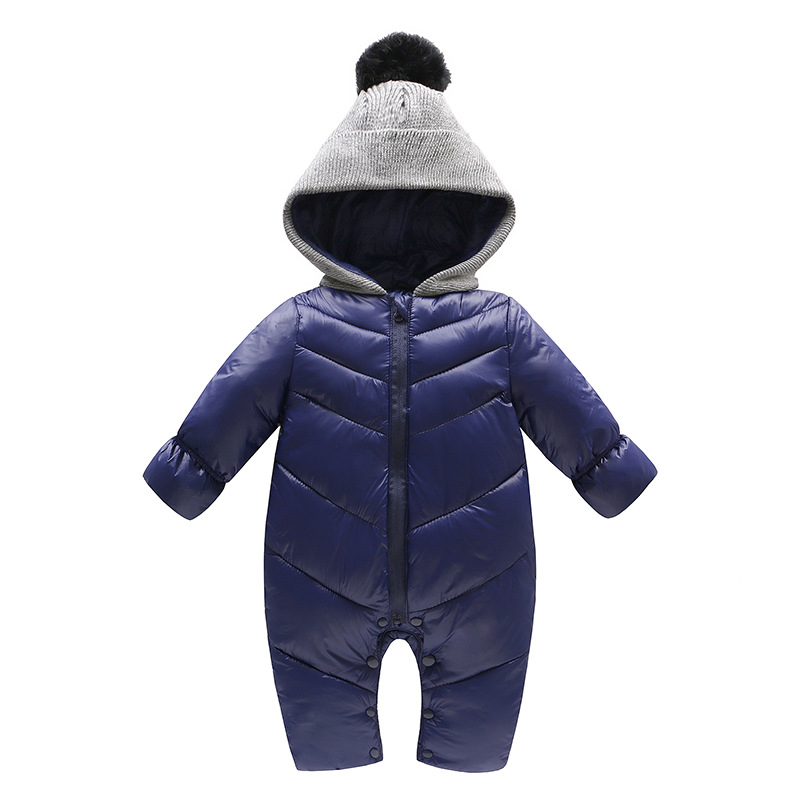 Winter baby clothes baby thickening warm outdoors clothes children jeans baby climbing clothes  Baby rompers L294<br>
