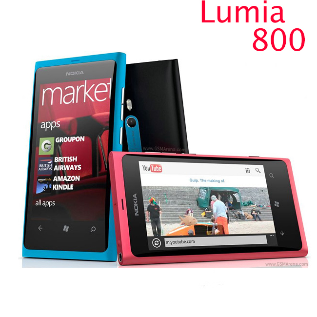 "original phone lumia 800 Windows Phone 3.7"" nokia Lumia 800 Mobile Phone ROM 16GB Camera 8.0MP Wifi GPS Bluetooth 3G cell phone(China (Mainland))"