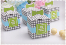 New Arrival My Little Man Favor Box 100PCS/LOTwedding favor box baby shower party candy box cupcake cake box