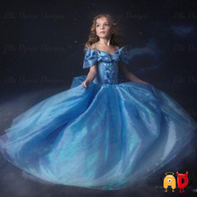 AD Tulle Dream Cinderela Girl Dress Summer Style Costume Princess Party Dress Up Baby Girls Dresses Clothing Snow Queen Clothes