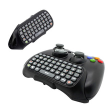 Wireless Controller Text Messenger Keyboard QWERTY Chatpad Keypad for Xbox 360 Game Controller Black With retail packaging(China)