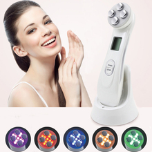 Face Skin EMS Mesotherapy Electroporation RF Radio Frequency Facial LED Photon Skin Care Device Face Lift Tighten Beauty Machine
