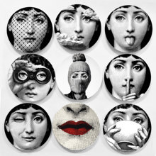 Hot sale Piero Fornasetti plates beauty illustration hanging decorative craft dishes home/hotel/bar background adornment plate(China)