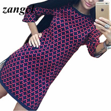 Zangcl New Women Summer Cross Plaid Print Straight Slim Sexy Dress Vintage Floral Logo Dresses