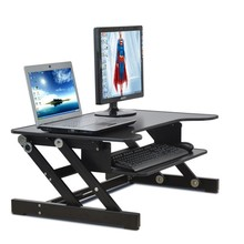 E8 EasyUp Height Adjustable Sit Stand Desk Riser Foldable Laptop Desk Stand With Keyboard Tray Notebook/Monitor Holder Stand(China)