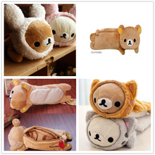 Popular Hot 6Designs- Rilakkuma Bear 24CM approx. Plush Coin  BAG Case Plush ; Coin Purse Wallet Pouch Handbag