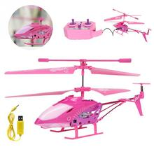 Approx 23*3.7*9.5 cm RC Toys LED Helicopter Skyline 3.5 Channel With Gyro Pink New Gifts Deep Pink Light Pink(China)