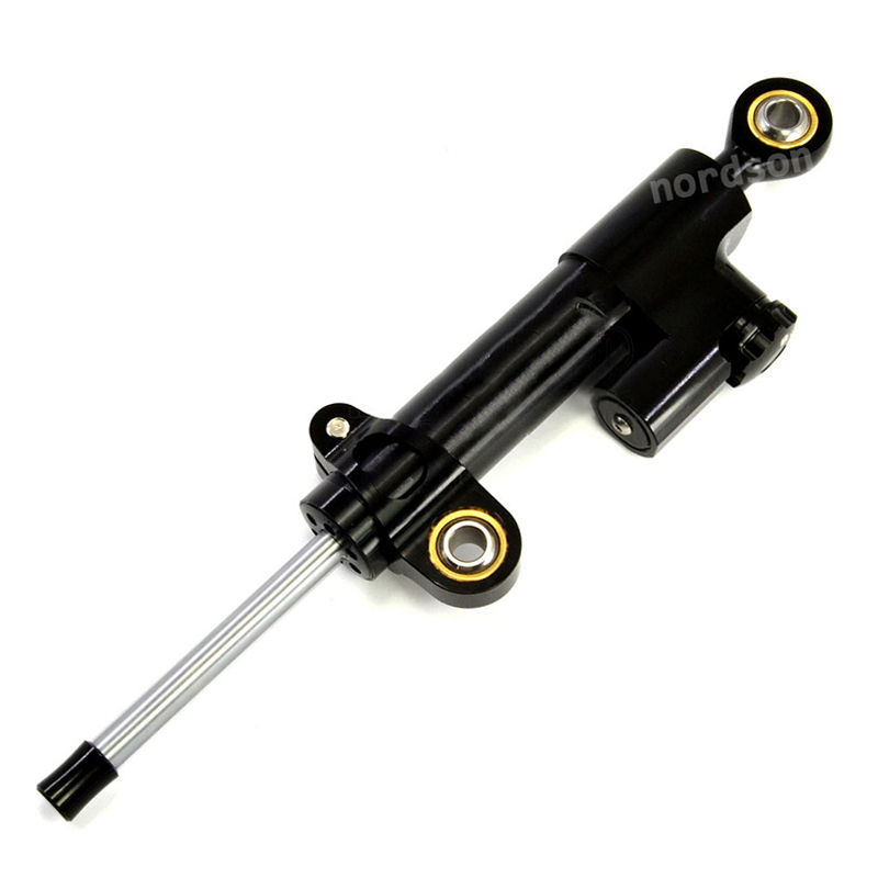 Black Universal Adjustable CNC Motorcycle Steering Damper Stabilizer Linear Reversed Safety Control S3 For Honda Kawasaki Yamaha<br>
