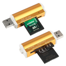 in stock ! High Quality USB 2.0 All in 1 Multi Memory Card Reader for T-Flash MMC TF M2 Memory Stick Drop Shipping(China)