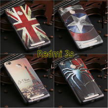 Cartoon Captain America superman spider man Eiffel Tower soft silicon case cover for Xiaomi redmi 3s 3 s red rice 3s Hongmi 3s