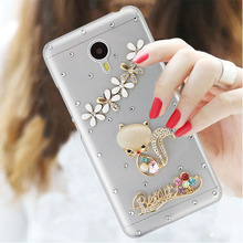 2017 Transparent Diamond Cat Style Cell Phone Case For Meizu MX5/MX5e,New Luxury Cute Cartoon Mobile Phone Case For Meizu Pro 5