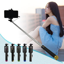 Foldable Handheld Monopod Tripod Wired Selfish Stick Extendable Selfie Stick For iPhone Samsung Smartphone Selfie Stick Monopod