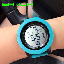 SANDA Brand 2017 LED Digital Watch Women Watches Ladies Sport Wrist Watch Electronic Female Clock Montre Femme Relogio Feminino