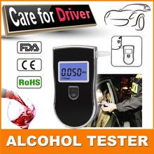 Free shipping! Patent Professional Digital Breath Alcohol Tester with digital LCD display & blue backlight & Mouthpieces