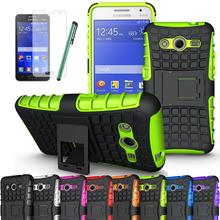 TPU+PC Heavy Duty Armor Cover Case For Samsung Galaxy Core II 2 Dual SIM SM-G355 G355H G3559 G3556D With Screen Protector Stylus