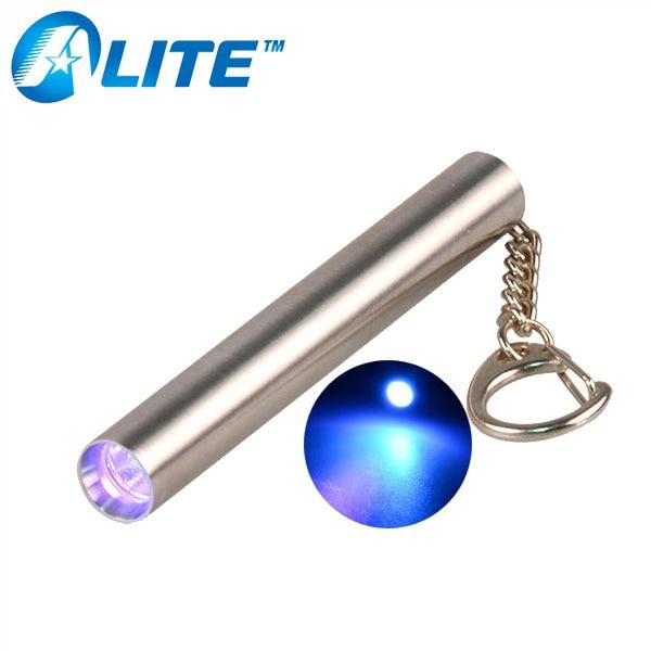 IR Laser Pointer Mini Flashlight UV Back Light Key Chain Money Check Aluminum HI