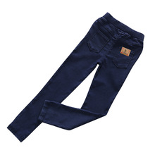 2017 spring baby girls jeans pants fashion long-length kids skinny denim pants for children trousers baby Stretch pants(China)