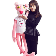 Stuffed animal pillow 1 pc 55cm kawaii pink panther plush toy doll cartoon plush toy large soft toys for children birthday gift