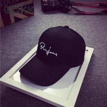 COKK Black Baseball Cap Women Snapback Embroidery Dad Hats For Men Casquette Daddy Hat Hip Hop Trucker Cap Bone Female Drake Sun(China)